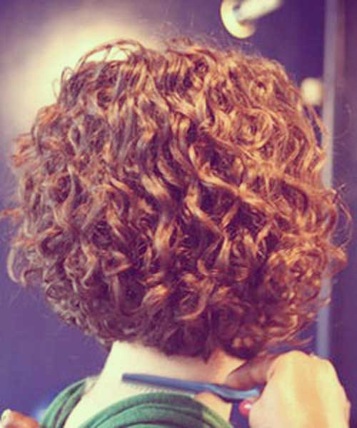 Easy Stacked Short Hairstyles for Curly Hair Ideas
