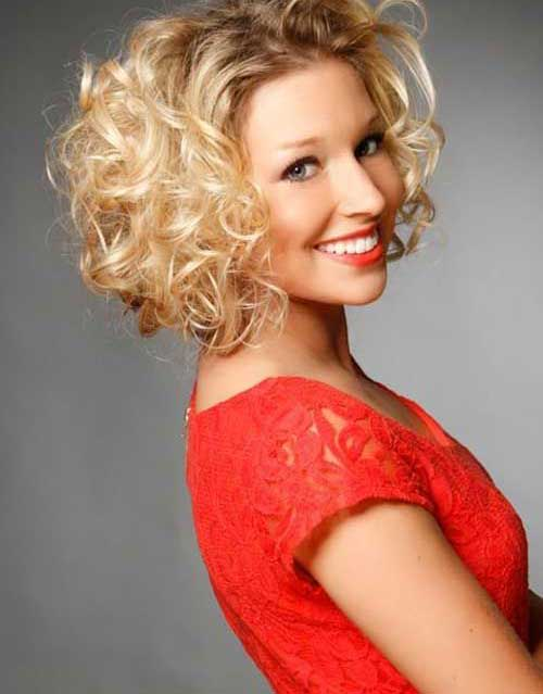 Easy Thick Blonde Short Hairstyles for Curly Hair Ideas