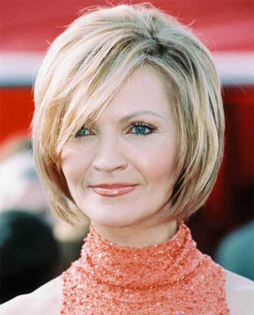 Fine Bob Hairstyles for Women over 50