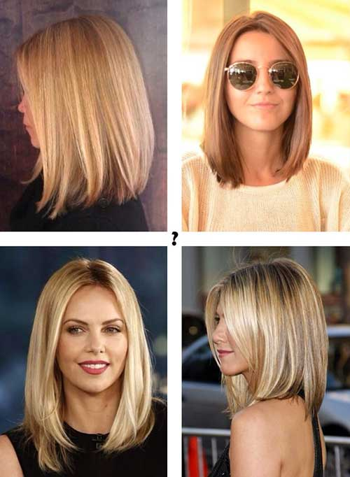 Fine Medium to Short Hairstyles