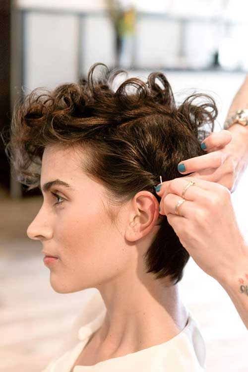 Fine Pixie Cut Curly Hair