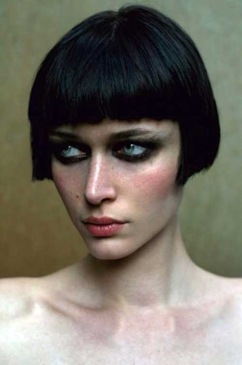 French Bob Hair with Bangs