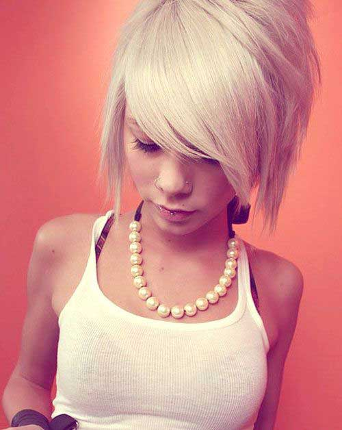 Funky Short Hair Cuts with Bangs