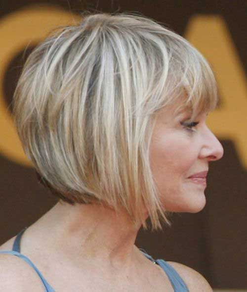 Graduated Bob Haircuts for Older Women