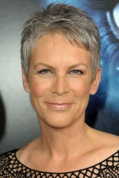 Grey Pixie Haircuts for Older Ladies
