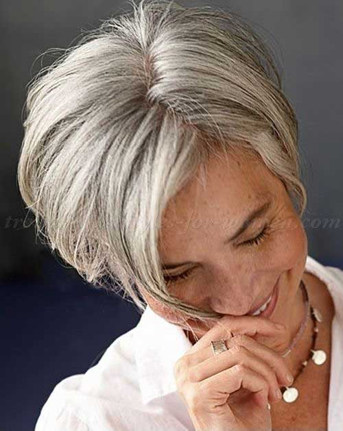 Best Grey Short Haircuts for Women over 50