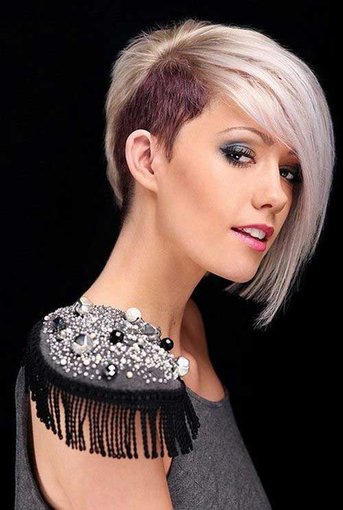 Half Shaved Straight Trendy Short Haircuts