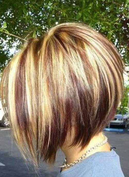 Highlighted Graduated Bob Hair Colors