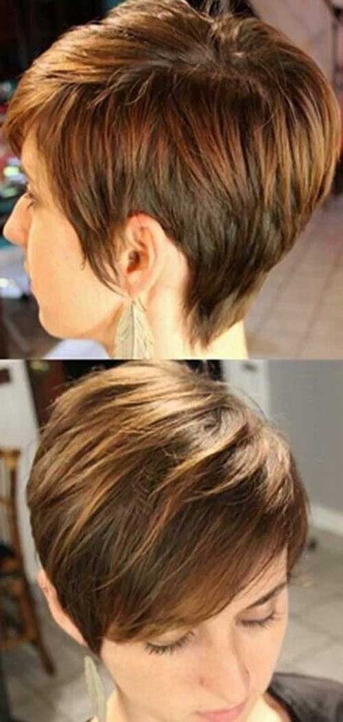 Highlighted Pixie Hair Colors