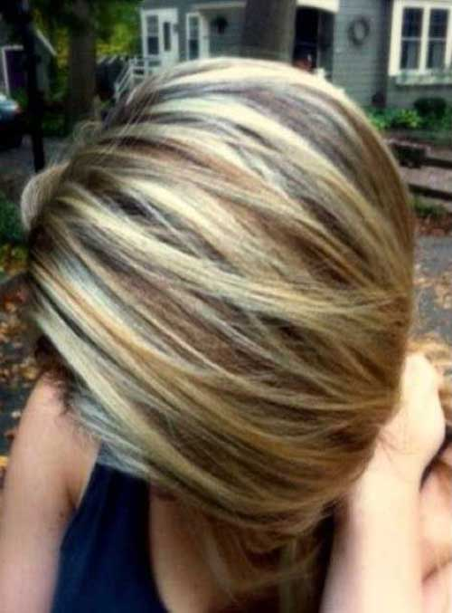 30 good color for short hair short hairstyles haircuts 2017 highlighted short straight hair color pmusecretfo Images