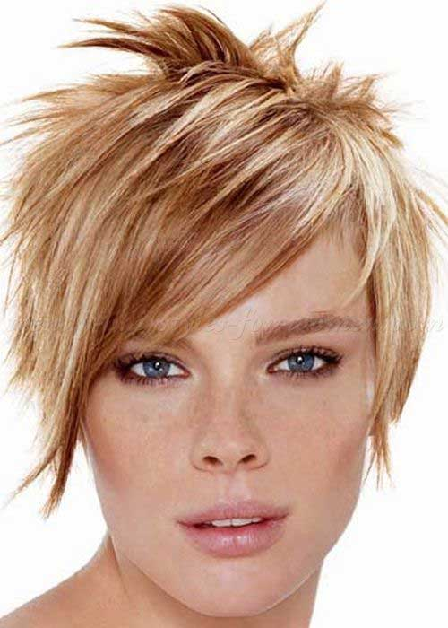 Highlighted Short Spiky Hairstyles