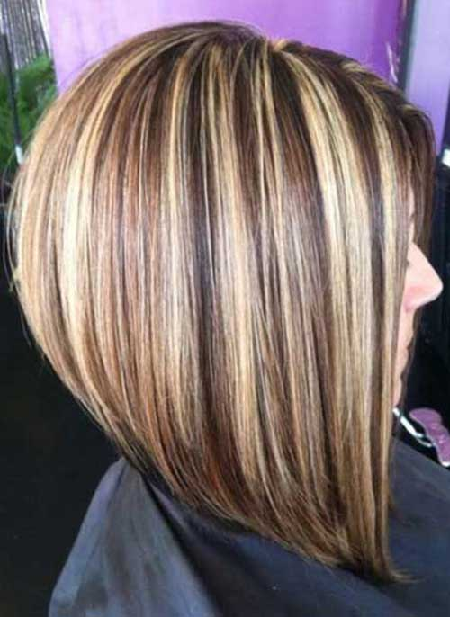 Inverted Short Hair Color Styles