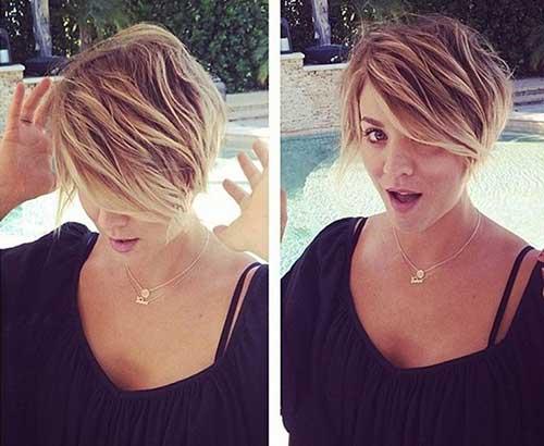 Kaley Cuoco Trendy Short Hairstyles