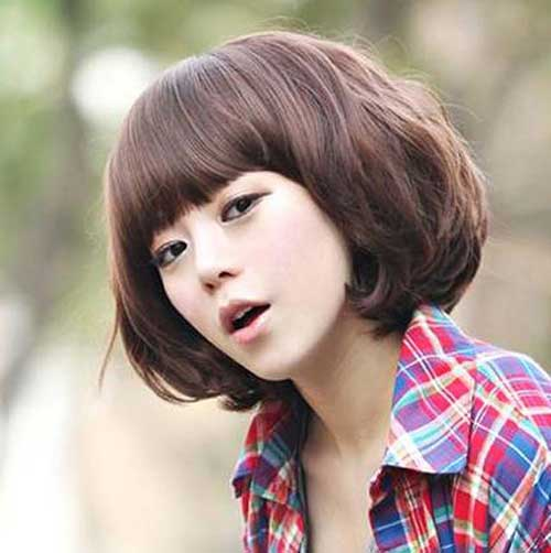 Korean Bob Hairstyles with Bangs