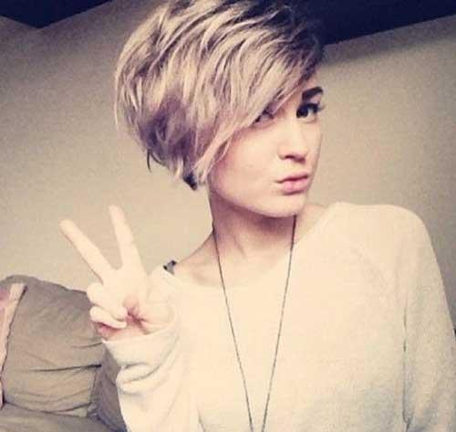 Ladies Short Trendy Wavy Hairstyles