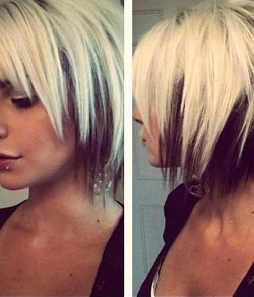Layered Short Hair Cuts with Bangs