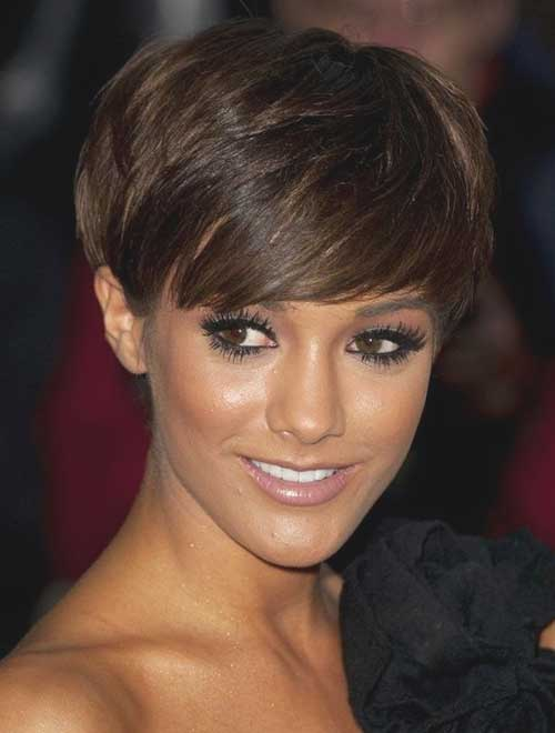 Long Brown Pixie Cropped Haircuts