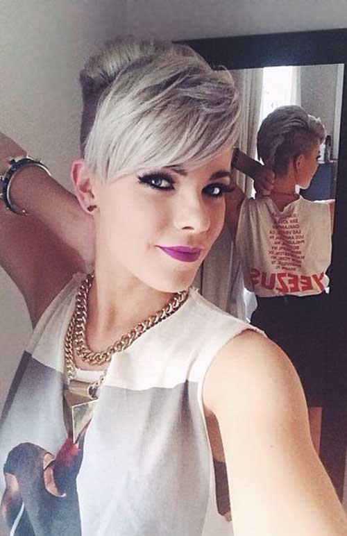 Long Pixie Hairstyles Shaved Side Cuts