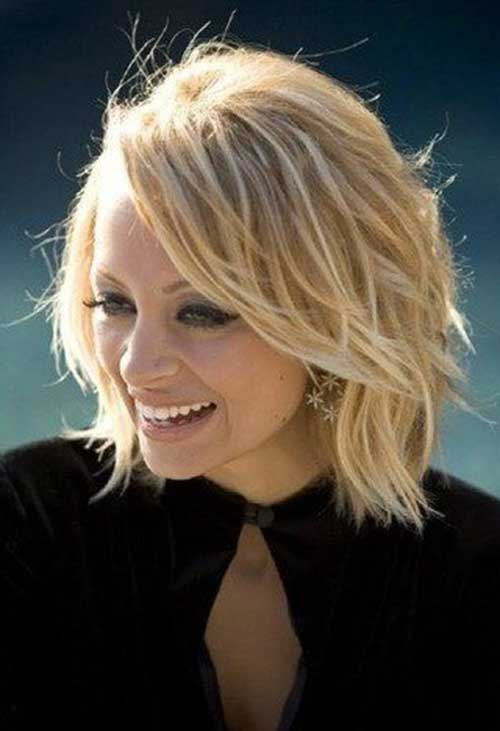 Nicole Richie Blonde Bob Haircuts