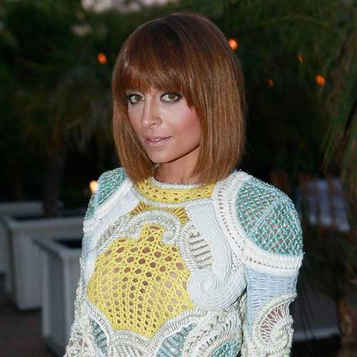 Nicole Richie Best Bob Hair with Bangs