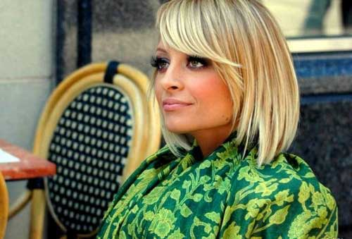 Best Nicole Richie Bob Hair with Side Bangs