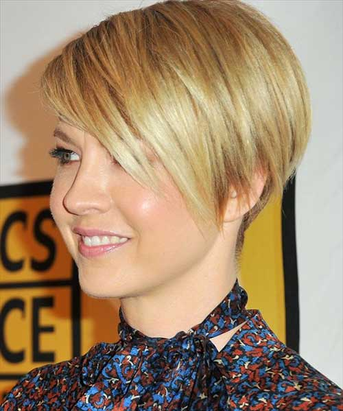 Oval Face Straight Pixie Cut