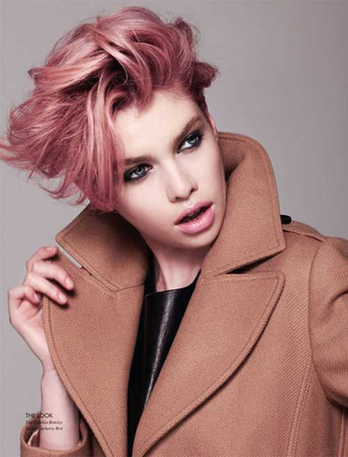 Pink Pixie Cropped Hair Styles