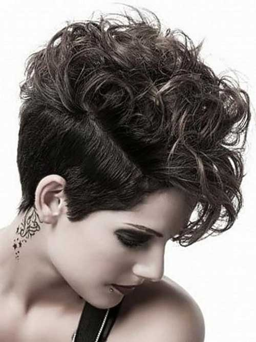 Pixie Cut Curly Hair Shaved Sides