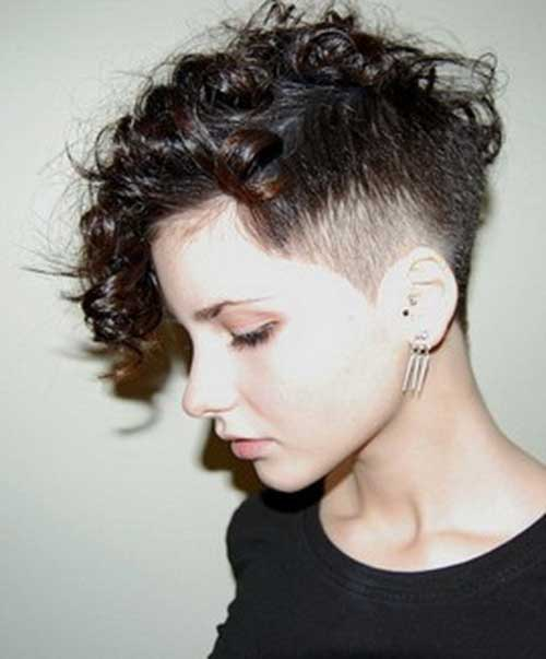 Pixie Curly Hair Side Shave