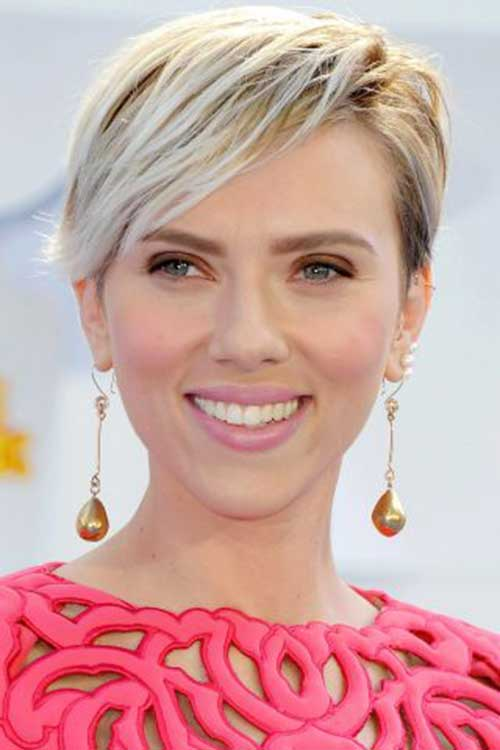 Blonde Pixie Cut Celebrity