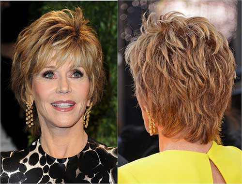 Nice Pixie Cuts Back View for Mature Ladies