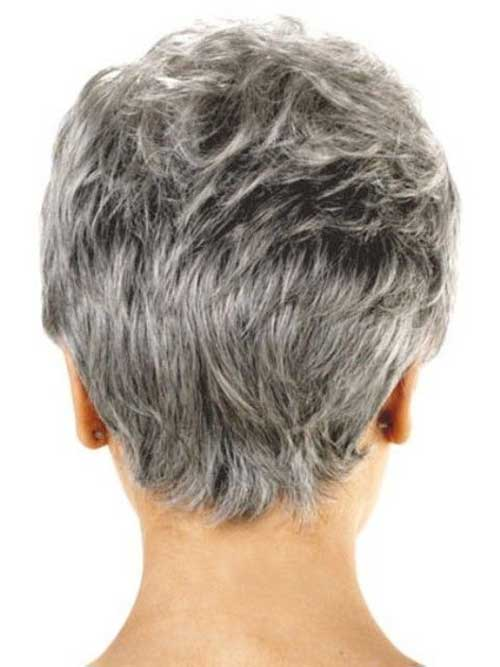 Pixie Haircuts Back View for Older Women