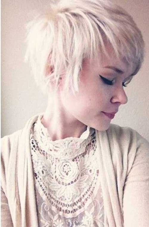 Platinum Blonde Long Pixie Hairstyles