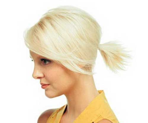 Swell Easy Ponytail Styles For Short Hair You Will Love Short Short Hairstyles Gunalazisus