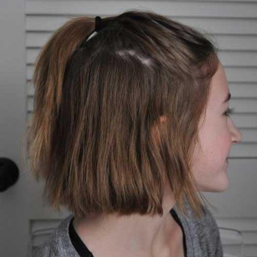 Terrific Easy Ponytail Styles For Short Hair You Will Love Short Short Hairstyles Gunalazisus