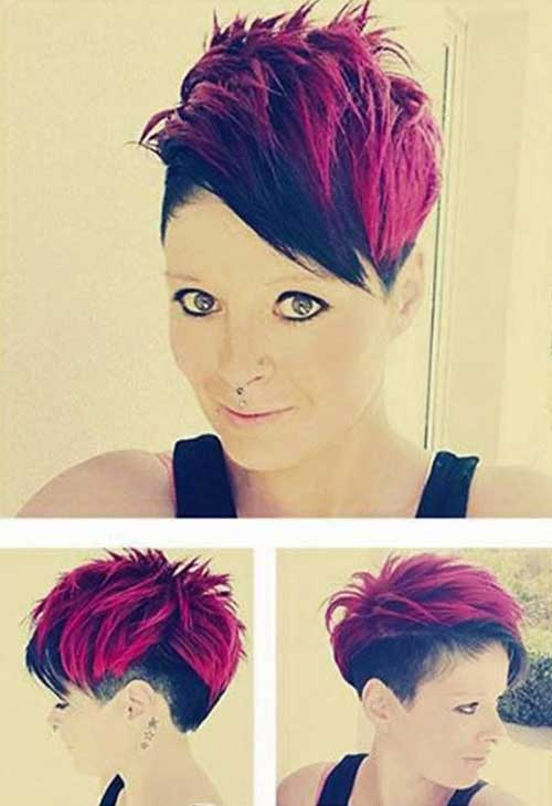 Punk Red Short Haircuts