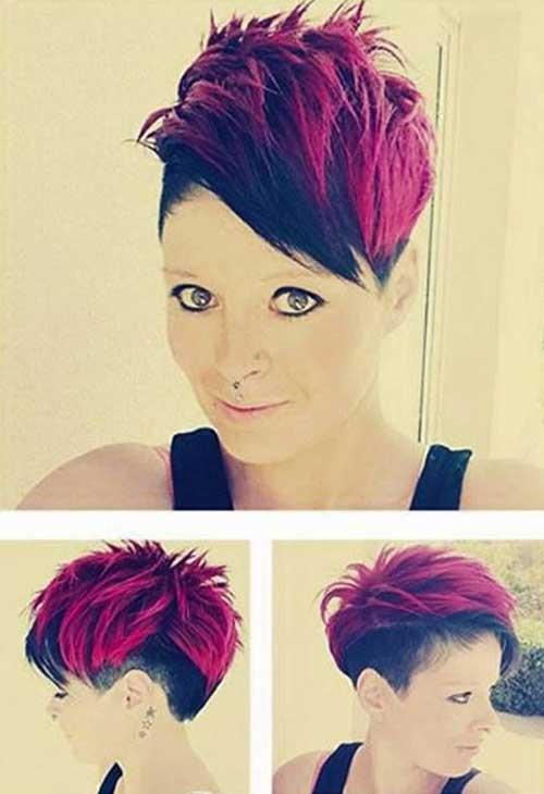 Punk Red Short Haircuts