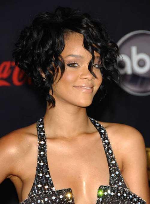 Rihanna Curly Bob Hair