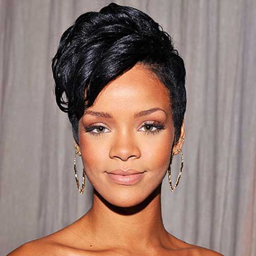 Rihanna Short Curly Gorgeous Pixie Hair