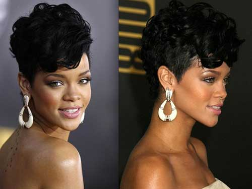 Best Rihanna Short Hairstyles Curly