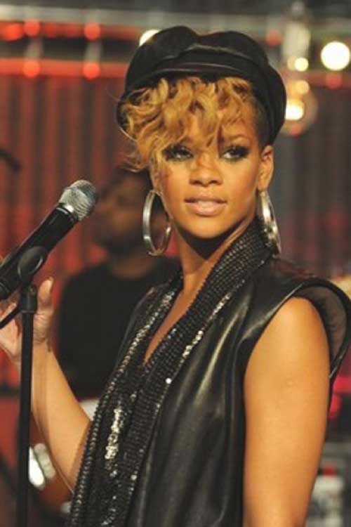 Rihanna Trendy Curly Pixie Cuts