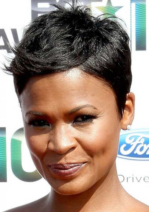 Round Face Black Hairstyles for Short Haircut