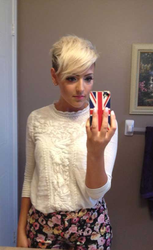 Shaved Side Long Pixie Hairstyles