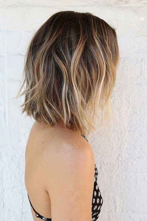 Short Balyage Ombre Hair Style