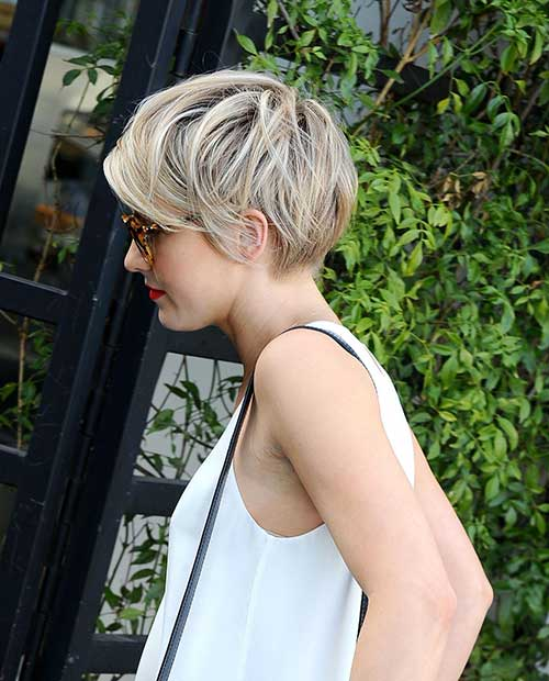 Short Blonde Cropped Hair 2015