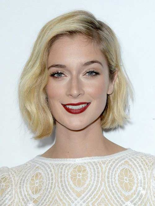 Short Blonde Fine Hairstyles 2015