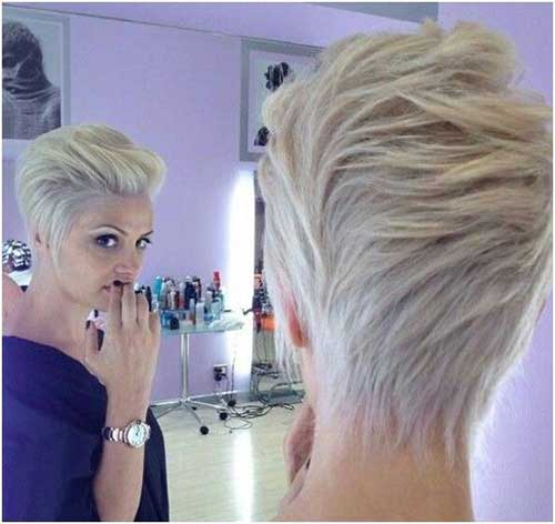 Short Blonde Pixie Hair
