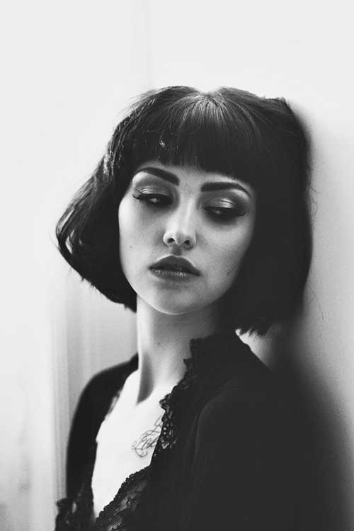 Best Short Blunt Bob with Bangs