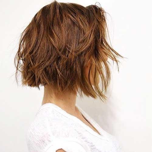 Short Blunt Wavy Hairstyles