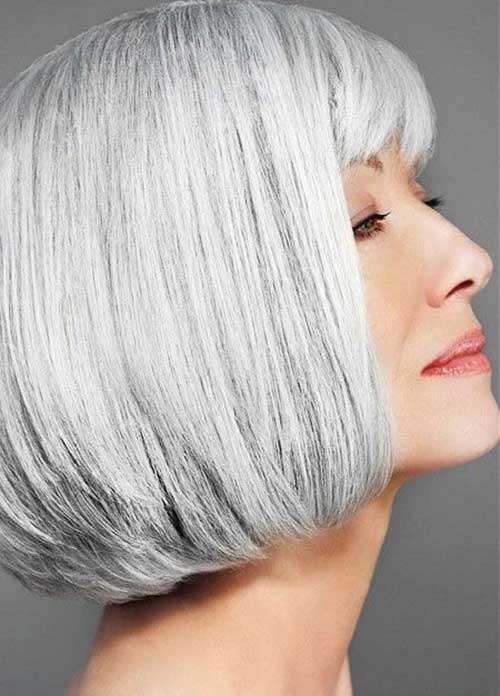 Short Bob Haircuts for Older Ladies